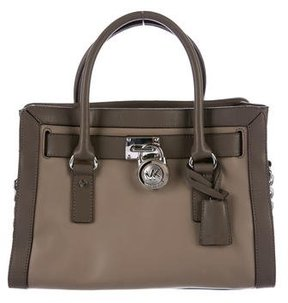 MICHAEL Michael Kors Leather Hamilton Satchel - BROWN - STYLE