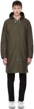 Acne Studios Green Melt Hooded Coat