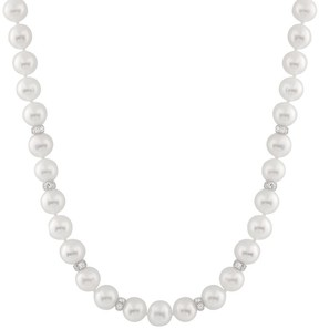 Bella Pearl White Freshwater Pearl Necklace