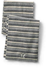 Lands' End Men's Chunky Knit Scarf-Classic Gray Heather Stripe