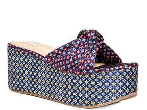 Max Studio divert : jacquard platform slip-on sandals