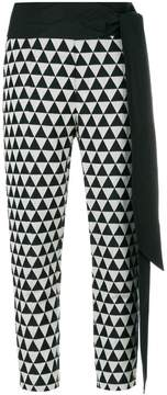 Chalayan triangle print cropped trousers