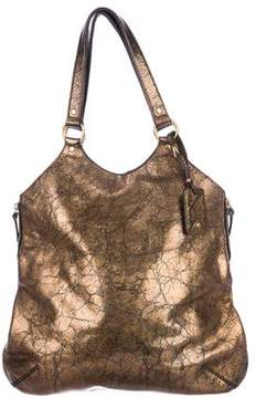 Saint Laurent Metallic Leather Shoulder Bag