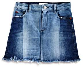 DL1961 Girls' Jenny Contrast-Wash Denim Skirt - Big Kid