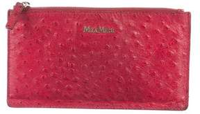 Max Mara Embossed Leather Zip Pouch