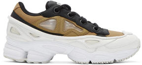 Raf Simons Khaki and White adidas Originals Edition Ozweego III Sneakers