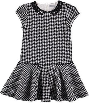 Mayoral Houndstooth Cotton Dress, Size 8-16