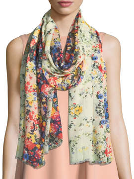 Neiman Marcus Dark Bloom Scarf