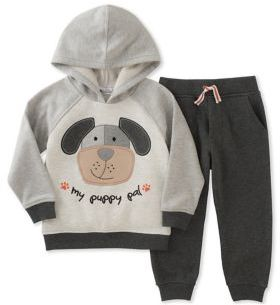 Kids Headquarters Baby Boy's Two-Piece Puppy Top & Pants Set