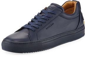 Buscemi Lyndon Leather Low-Top Sneaker, Navy