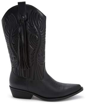 Forever 21 Faux Leather Tasseled Boots