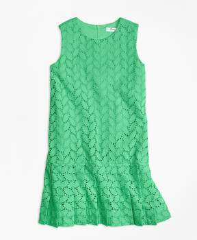 Brooks Brothers Sleeveless Cotton Eyelet Dress