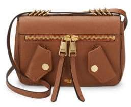 Moschino Compact Pocketed Leather Shoulder Bag