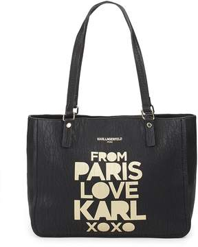 Karl Lagerfeld Women's Bubble Faux Leather Tote