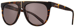 Balmain Flat-Top Aviator Sunglasses
