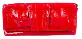 Valentino Patent Leather Bow Clutch