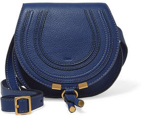 Chloé - Marcie Mini Textured-leather Shoulder Bag - Navy