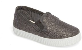Cienta Toddler Glitter Slip-On Sneaker