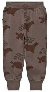 Bobo Choses Brown Otariinae Print Track Pants