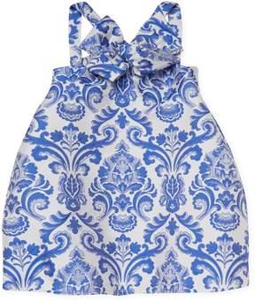 Halabaloo Scroll Jacquard Dress