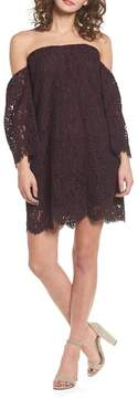 Cupcakes And Cashmere Adalira Off-the-Shoulder Lace Dress