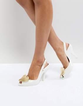 Melissa Lady Dragon White Heart Heeled Shoes