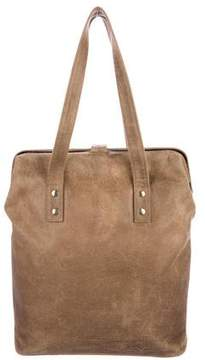 MM6 MAISON MARGIELA Distressed Suede Frame Tote
