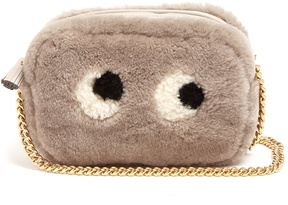 ANYA HINDMARCH Eyes shearling cross-body bag