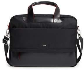 Lodis Alexus Nylon & Leather Briefcase - Black