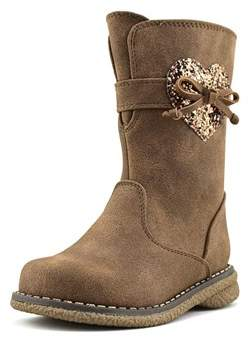 Rachel Shelby Toddler Round Toe Synthetic Tan Boot.