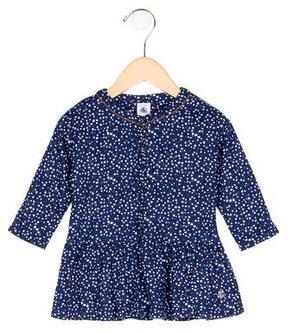 Petit Bateau Girls' Heart Print Flounce Dress