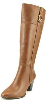 Alfani Courtnee Wide Calf Women Round Toe Synthetic Brown Knee High Boot.
