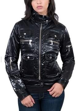 Wilson Williams Aureka Nero Black Padded Women's Cropped Jacket.
