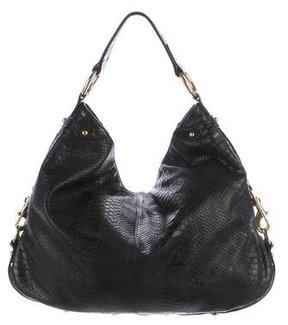 Rebecca Minkoff Embossed Leather Hobo - BLACK - STYLE