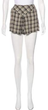 Anna Sui Plaid Mini Shorts
