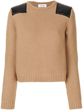 Courreges shoulder patch sweater