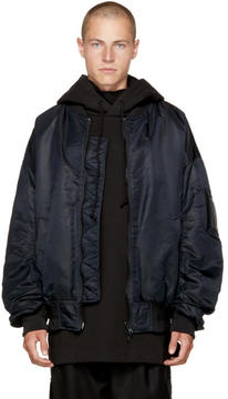 Juun.J Black Archive Bomber Jacket