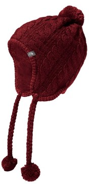 The North Face Women's Fuzzy Earflap Beanie - Red