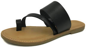Bamboo Black Toe-Strap Christy Sandal - Women