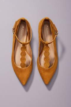 Anthropologie T-Strap City Flats