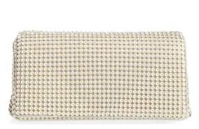 Whiting & Davis Crystal Triangle Clutch - Ivory