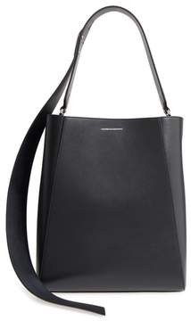 Calvin Klein Medium Calfskin Leather Bucket Bag with Removable Pouch