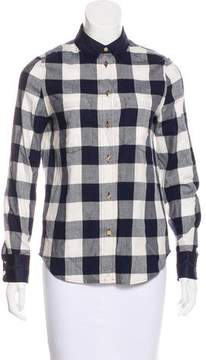 Draper James Patterned Button-Up Top