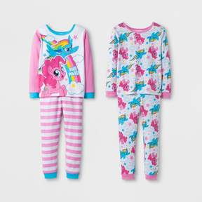 My Little Pony Toddler Girls' 4pc Pajama Set - Pink