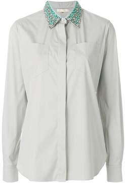 Mantu embellished collar shirt