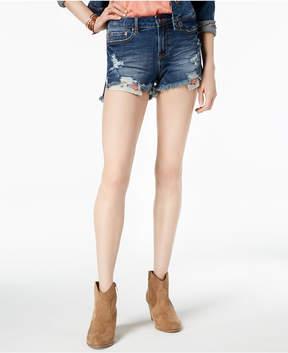 American Rag Juniors' Ripped Denim Shorts, Created for Macy's