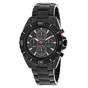 Michael Kors Jetmaster MK8455 Men's Round Black Carbon Fiber Watch
