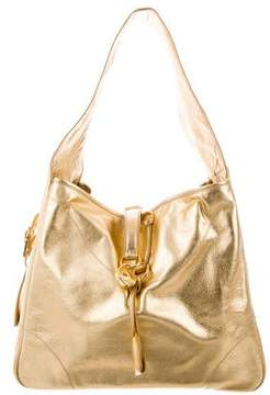 Ralph Lauren Metallic Leather Hobo