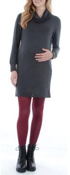 Everly Grey Women's 'Marina' Cowl Neck Maternity Sweater Dress