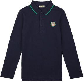 Kenzo Long-Sleeved Logo Polo Shirt